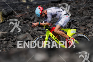Tim O'Donnell (USA) competes during the bike leg at the 2017 Ironman World Championship in Kailua-Kona, Hawaii on October 14, 2017.