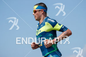Andy Potts (USA) competes during the run leg thru the Natural Energy Lab at the 2017 Ironman World Championship in Kailua-Kona, Hawaii on October 14, 2017.