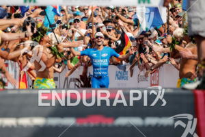 Patrick Lange (GER) competes during the finish leg at the 2017 Ironman World Championship in Kailua-Kona, Hawaii on October 14, 2017.