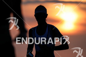 Sunset at the Natural Energy Lab at the 2017 Ironman World Championship in Kailua-Kona, Hawaii on October 14, 2017.