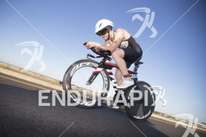 Brian Duffy Jr. during the bike leg at the 2018 Escape Surf City Triathlon on April 22, 2018 in Huntington Beach, CA.