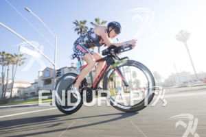 Sarah Haskins-Kortuem on Pacific Coast Highway at the 2018 Escape Surf City Triathlon on April 22, 2018 in Huntington Beach, CA.