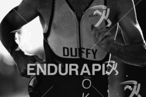 Brian Duffy, Jr. makes his way from the swim exit to the transition area at Escape From Alcatraz Triathlon on June 3, 2018 in San Francisco, CA.
