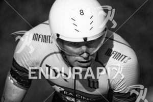 Andy Potts powers it through Golden Gate Park at Escape From Alcatraz Triathlon on June 3, 2018 in San Francisco, CA.