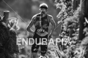 Cameron Dye climbs the infamous Sand Ladder at Escape From Alcatraz Triathlon on June 3, 2018 in San Francisco, CA.