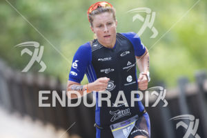 Alycia Hill on the run course of the 2018 Ironman 70.3 Santa Rosa in Sonoma County, CA on July 28, 2018.