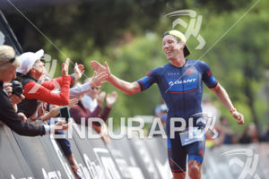 Sam Appleton cruises to victory at the 2018 Ironman 70.3 Santa Rosa in Sonoma County, CA on July 28, 2018.