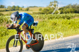 Madison's Revere Greist leads the bike on his way to a 5th place overall finish at the 2018 Ironman Wisconsin on September 09, 2018 in Madison, WI.
