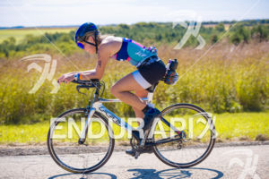 Age grouper enjoying the crowd support and scenery on the bike course at the 2018 Ironman Wisconsin on September 09, 2018 in Madison, WI.