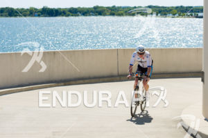 Age group athlete on the final climb up the Helix at the 2018 Ironman Wisconsin on September 09, 2018 in Madison, WI.