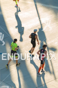 Runners  on the downtown square at the 2018 Ironman Wisconsin on September 09, 2018 in Madison, WI.
