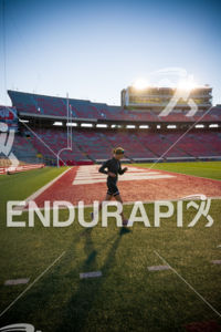 A solitary segment in Camp Randall Stadium on the run course at the 2018 Ironman Wisconsin on September 09, 2018 in Madison, WI.