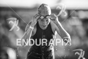 Non Stanford exits the swim leg at the 2018 Beijing International Triathlon on September 23, 2018 in Beijing, China.