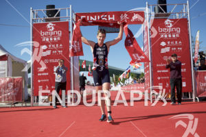 Jonny Brownlee claims victory at the 2018 Beijing International Triathlon on September 23, 2018 in Beijing, China.