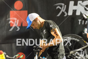 Patrick Lange (GER) prepares for the 2018 Ironman World Championship in Kailua-Kona, HI on October 13, 2018.