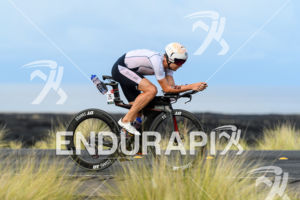David McNamee (GBR) competes during the bike leg at the 2018 Ironman World Championship in Kailua-Kona, HI on October 13, 2018.