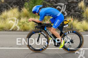 Patrick Lange (GER) competes during the bike leg at the 2018 Ironman World Championship in Kailua-Kona, HI on October 13, 2018.