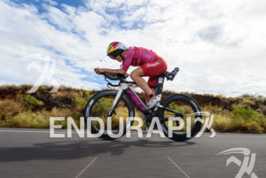 Daniela Ryf (SUI) competes during the bike leg at the 2018 Ironman World Championship in Kailua-Kona, HI on October 13, 2018.