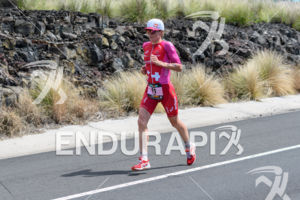 Daniela Ryf (SUI) competes during the run leg at the 2018 Ironman World Championship in Kailua-Kona, HI on October 13, 2018.