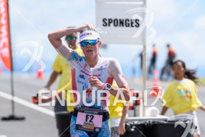Lucy Charles (GBR) competes during the run leg at the 2018 Ironman World Championship in Kailua-Kona, HI on October 13, 2018.