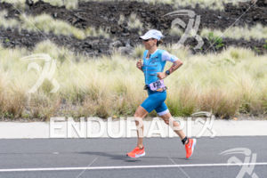 Anne Haug (GER) competes during the run leg at the 2018 Ironman World Championship in Kailua-Kona, HI on October 13, 2018.