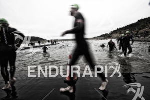 The swim turn around at the 2019 Ironman Santa Rosa triathlon held in Sonoma County, CA on May 11, 2019.
