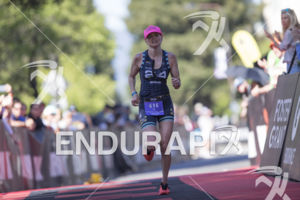 Cat Heidrich takes 3rd place in the women's field at the 2019 Ironman Santa Rosa triathlon held in Sonoma County, CA on May 11, 2019.