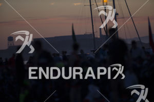 The early morning sun rises at the 2019 Escape From Alcatraz Triathlon held on June 9, 2019 in San Francisco, CA.
