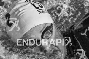 Lucy Hall during the swim leg at the 2019 Escape From Alcatraz Triathlon held on June 9, 2019 in San Francisco, CA.