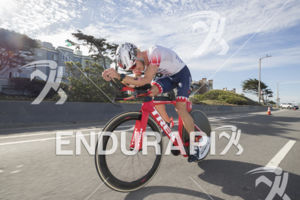 Ben Kanute on The Great Highway during the 2019 Escape From Alcatraz Triathlon held on June 9, 2019 in San Francisco, CA.