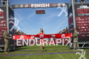 Ashleigh Gentle cruises to victory at the 2019 Escape From Alcatraz Triathlon on June 9, 2019 in San Francisco, CA.