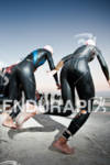 Ironman 703 Larry Rosa swim start wetsuit world championship