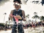 An athlete prepares to compete at the 2010 Xterra World…