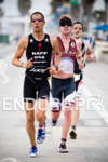 Jordan Rapp running with Paul Ambrose at the Rohto Ironman…
