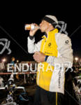 Mathias Hecht hydrates  prior to the 2011 Ford Ironman St.…