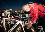 Petr Vabrousek checks his tire pressure prior to the 2011…
