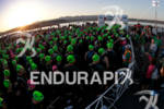 Athletes gather at swim start at the 2011 Ford Ironman,…