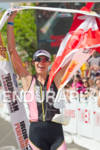 Heather Wurtele (CAN) celebrates victory at the 2011 Ford Ironman,…