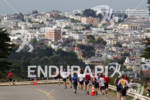 Athletes running at the 2011 Escape from Alcatraz Triathlon on…