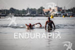 Matt Reed exits water at the Ironman 70.3 Eagleman on…