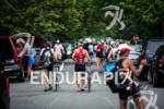 Athletes head home after the day at the Ironman 70.3…