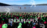 Athletes line the beach at the 2011 Ford Ironman Coeur…