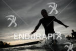 An athlete exits the water at the Frankfurter Sparkasse Ironman…