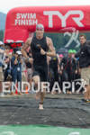 Comeau Holden exits water at the 2011 Ford Ironman Lake…