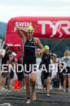 Heather Wurtele exits water at the 2011 Ford Ironman Lake…
