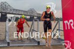 Nina Kraft is first woman to exit the water followed…