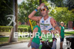 Chris McDonald (AUS) cools off during run at the 2011…