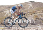 Leanda Cave on her bike during the Ironman 70.3 World…