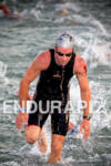 Paul Matthews (AUS) exits water competing at the Ironman World…