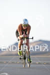 Joanna Lawn (NZL) on the bike at the Marines Ironman…